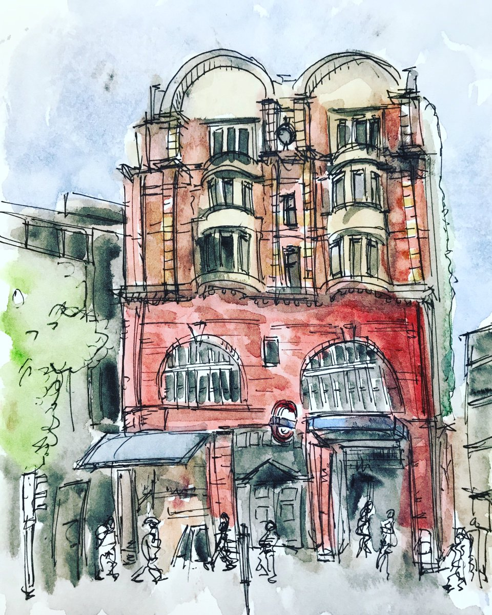This is #elephantandcastle #tube #station  #art #painting #sketch #drawing #London #illustration #building #architecture<br>http://pic.twitter.com/YeuXkZPbfw