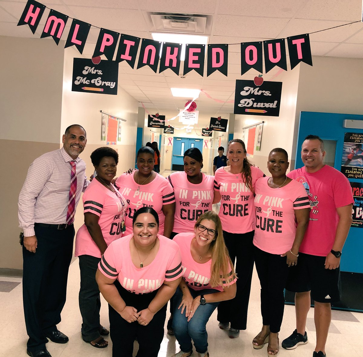 Hialeah Miami Lakes >> Hialeah Miami Lakes On Twitter Trojans Pink Out Building 6
