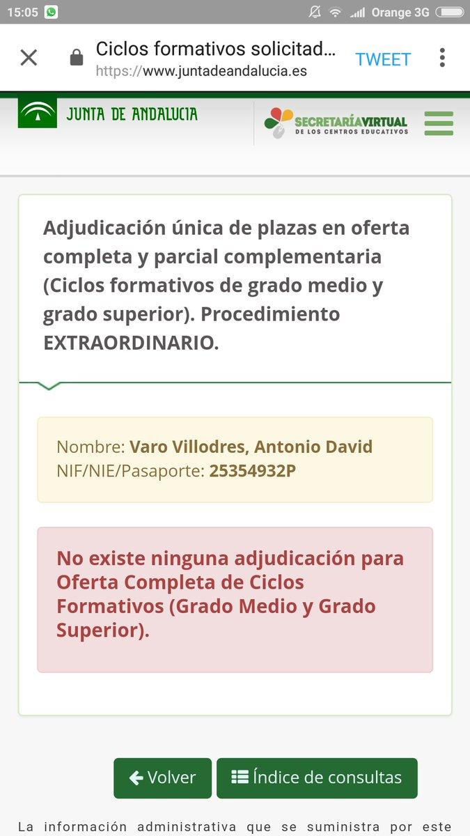 Fp Andaluza On Twitter Hoy Adjudicación Del Procedimiento