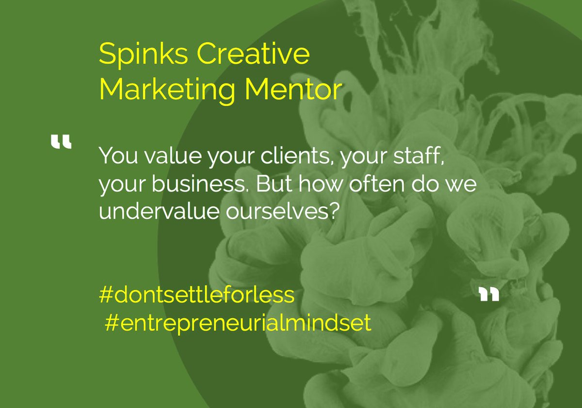 You value your clients, your staff, your business. But how often do we undervalue ourselves?  #dontsettleforless #marketingmentor #marketing<br>http://pic.twitter.com/2fW1AvkyCL