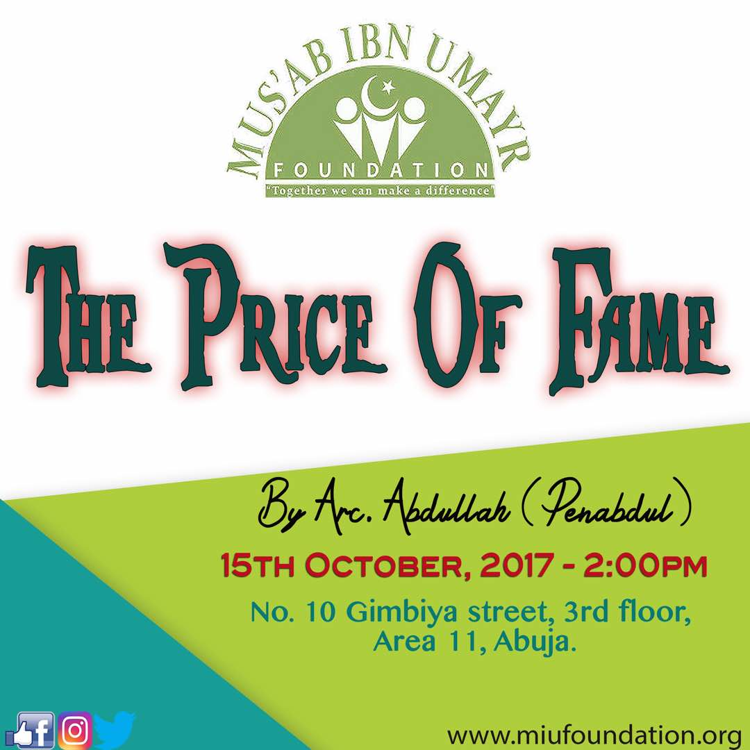 This comes up on Sunday In shaa Allaah #fame #ikhlas #Paradise @AbujaMuslimStyl @OilSheikh5050 @angry_ustaaz @Bahaushee @Imediatv_NG<br>http://pic.twitter.com/OZyu1mZ9Q8