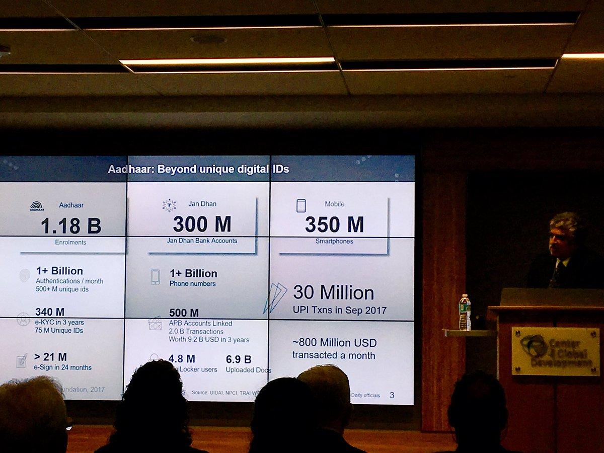 &quot;Digital technologies can make scarce resources abundant&quot; says #Aadhaar architect @NandanNilekani - the #mobile platform reaches &gt;5bn ppl - let&#39;s leverage that @GSMA @GSMAm4d #DigitalDev <br>http://pic.twitter.com/0lw7PbPjkC
