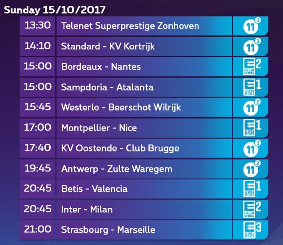 Sunday = football + cyclocross at Proximus TV (including #MilanDerby ). #pxs11 #YouNeverWatchAlone #stakvk #wesbew #kvoclu #antzwa<br>http://pic.twitter.com/ZMWWv8flOa