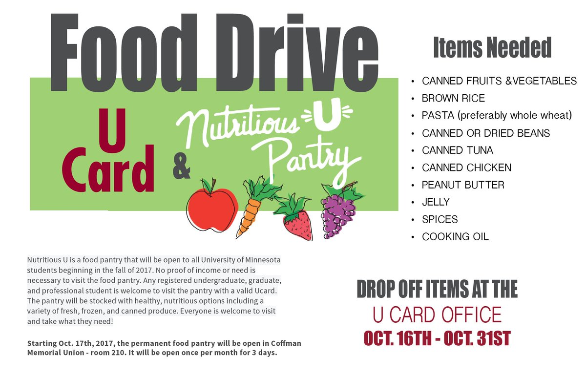 U Card On Twitter Starting Monday Drop Off Items At The U Card