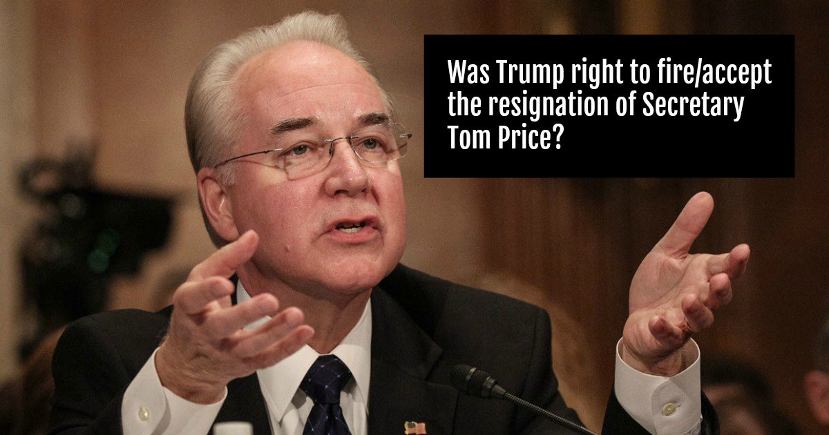 #DailyPoll: Was Trump right to fire/accept the resignation of Secretary Tom Price?   https://www. allaboutpolitics.com/was-trump-righ t-to-fireaccept-the-resignation-of-secretary-tom-price-/daily-poll &nbsp; … <br>http://pic.twitter.com/oP2S7qCExk