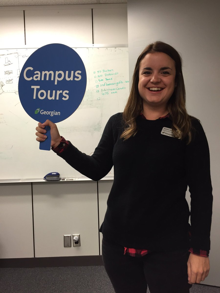 Friday&#39;s joy...these awesome tour signs #georgiancollege #futurestudents #tours @emmacjamieson <br>http://pic.twitter.com/fuodWHVgec