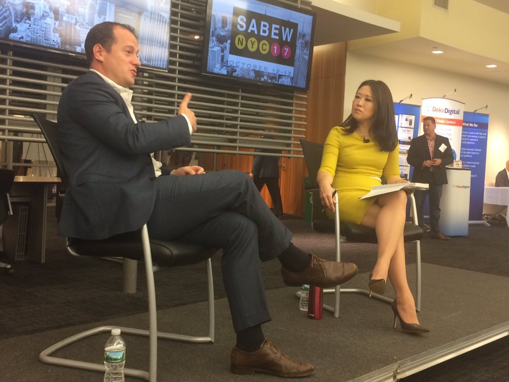 Big thanks to @Chobani CEO Hamdi Ulakaya and IAC CEO Joey Levin for two great discussions! #SABEWNYC17 <br>http://pic.twitter.com/KdSVqpt1UU