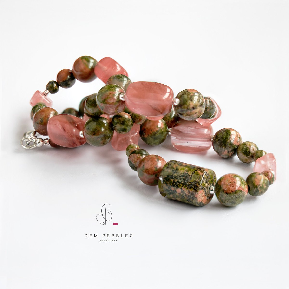 hearts healing stone unakite at tumbled tumble ulladulla shop gemstone