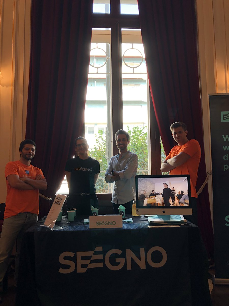 Guess who's here? @seegno! They're on the first floor and are some of the awesome people who helped us make #mirrorconf. Thank you! https://t.co/cJZYqavvvm