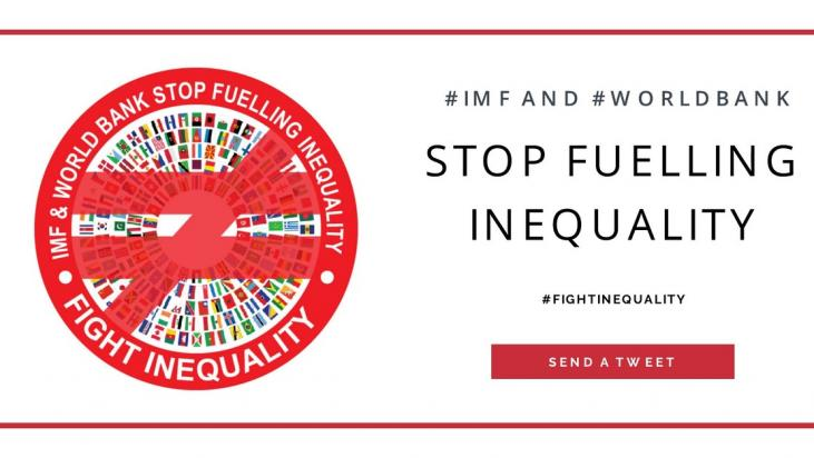 #IMF &amp; #WorldBank now recognise the dangers of our global #inequality crisis - but they also created it #annualmeetings2017 #FightInequality <br>http://pic.twitter.com/wvWb7MHVnN
