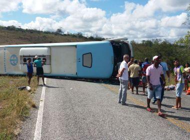 Motorista diz que perdeu controle do ônibus que tombou entre Mundo Novo e Piritiba https://t.co/imhZDHyvx1