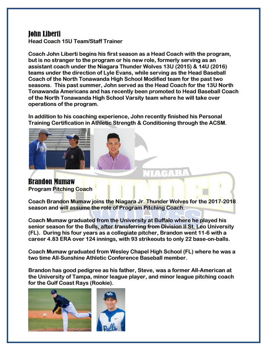 Twolves baseball on twitter niagara jr thunder wolves welcome twolves baseball on twitter niagara jr thunder wolves welcome johnbird13 as 15u head coachstaff trainer bmoomoo11 as program pitching coach xflitez Image collections