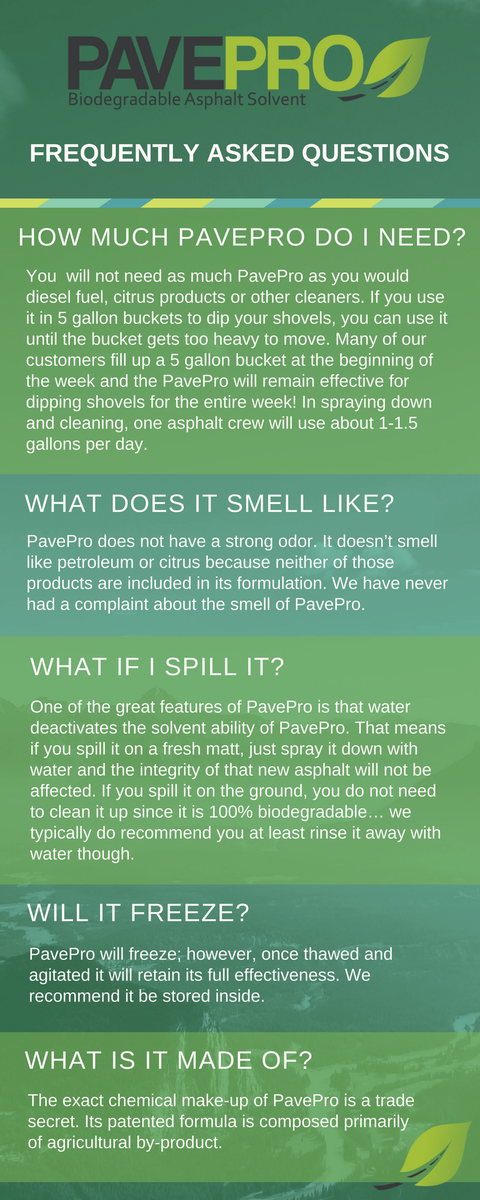 Your questions ... ANSWERED! A few of our #FAQs below. More to come next week!  http:// pavepro.com  &nbsp;  <br>http://pic.twitter.com/OYwn4NSecQ