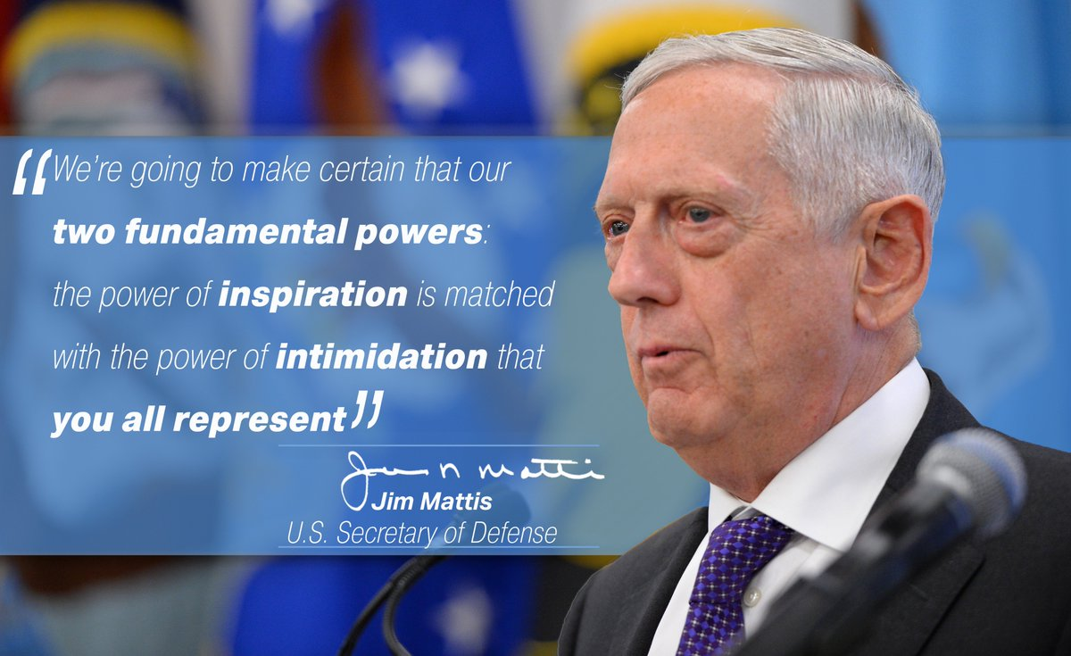 #SecDef Jim Mattis discussed restoring readiness, strengthening alliances and reforms in the @DeptofDefense yesterday at USSOCOM.<br>http://pic.twitter.com/eypIcFOOqw