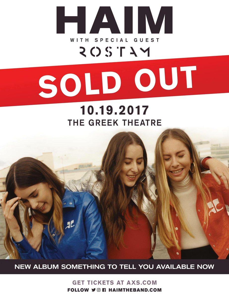 JUST ADDED: @matsoR will be opening for @HAIMtheband! #soldout #haim #rostam<br>http://pic.twitter.com/xo9mhviW3k