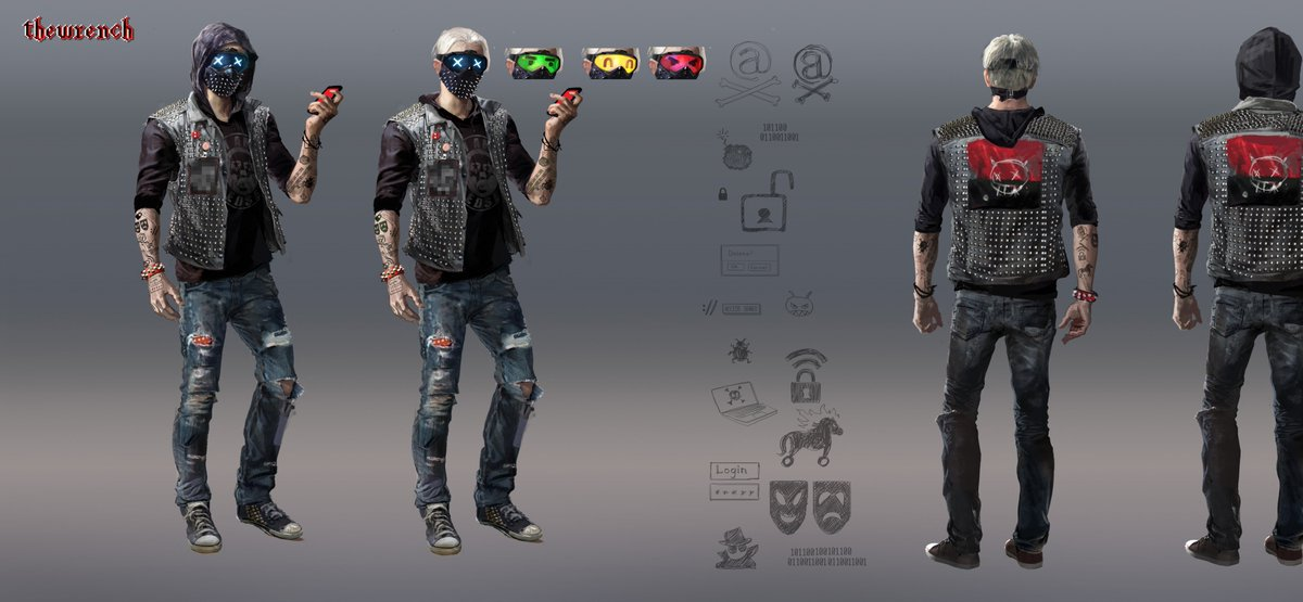 Watch Dogs Legion On Twitter It S Fridaythe13th Here S Some Early Conceptart Of The Other Guy With A Mask Watchdogs2 Wrench