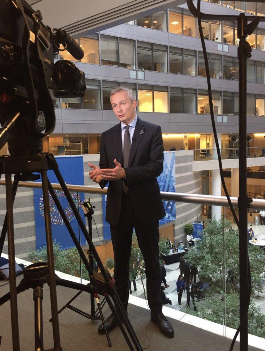 Taxation des #GAFA : nous avons obtenu le soutien de 19 pays européens.  C'est un combat !  @BFMTV #Washington pic.twitter.com/yXeaveNIOD