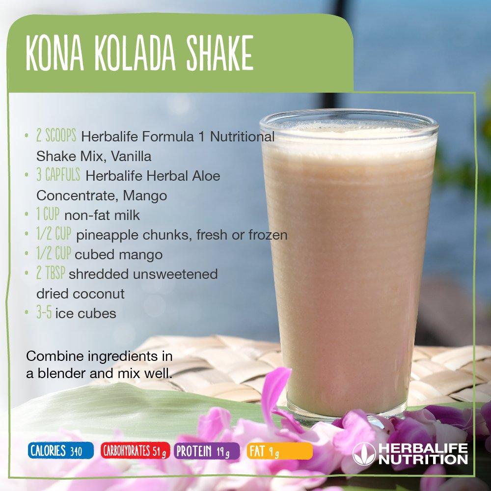 🎶 'If you like piña coladas...' 🎶 Try our Kona Kolada #HerbalifeShake...