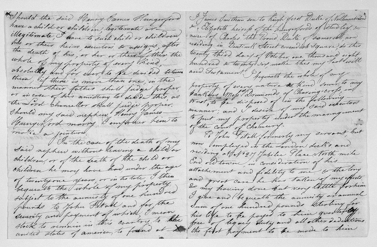 #OnThisDay in 1826, James Smithson makes his will to found @smithsonian! #ThankYou https://t.co/TGk5bNX3tE