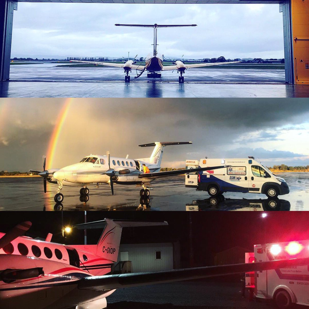 Always ready to serve; #kingair #airambulance. : @capt_dan1 (top), @totobrand (mid) and @morrow_air (bottom). #flyingfriday #kingairnation<br>http://pic.twitter.com/9stlcAtYxh