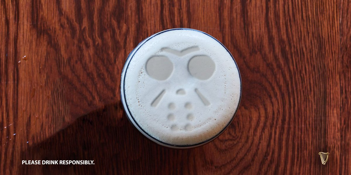 Put down the chainsaw and pick up a pint. #FridayThe13th #Guinness <br>http://pic.twitter.com/jGJLRFq0uv