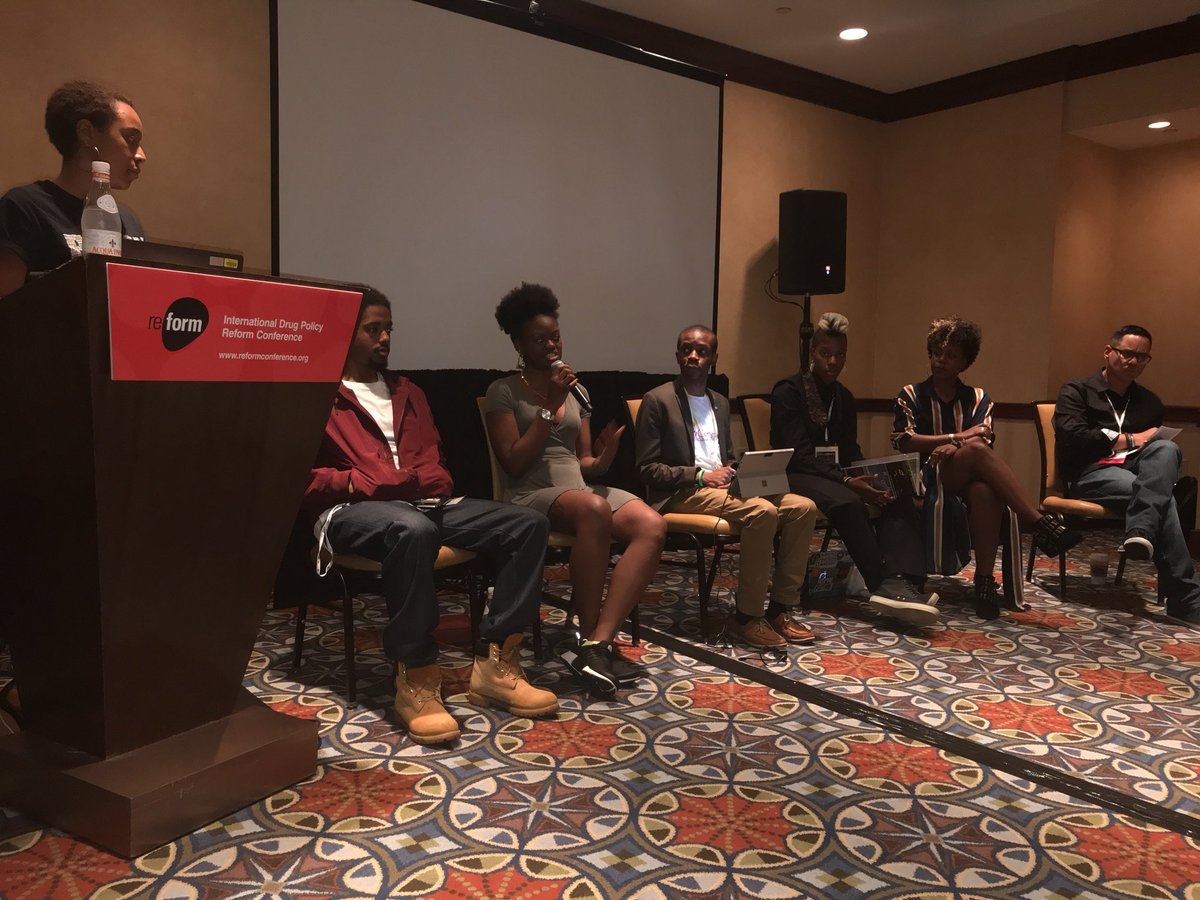 """""""Stigma starts to peel off based on class and race"""" - @QueenAdesuyi   #Reform17 #NoMoreDrugWar #DrugPolicy<br>http://pic.twitter.com/KG63zWOkUh &ndash; à Omni Hotel at CNN Center"""
