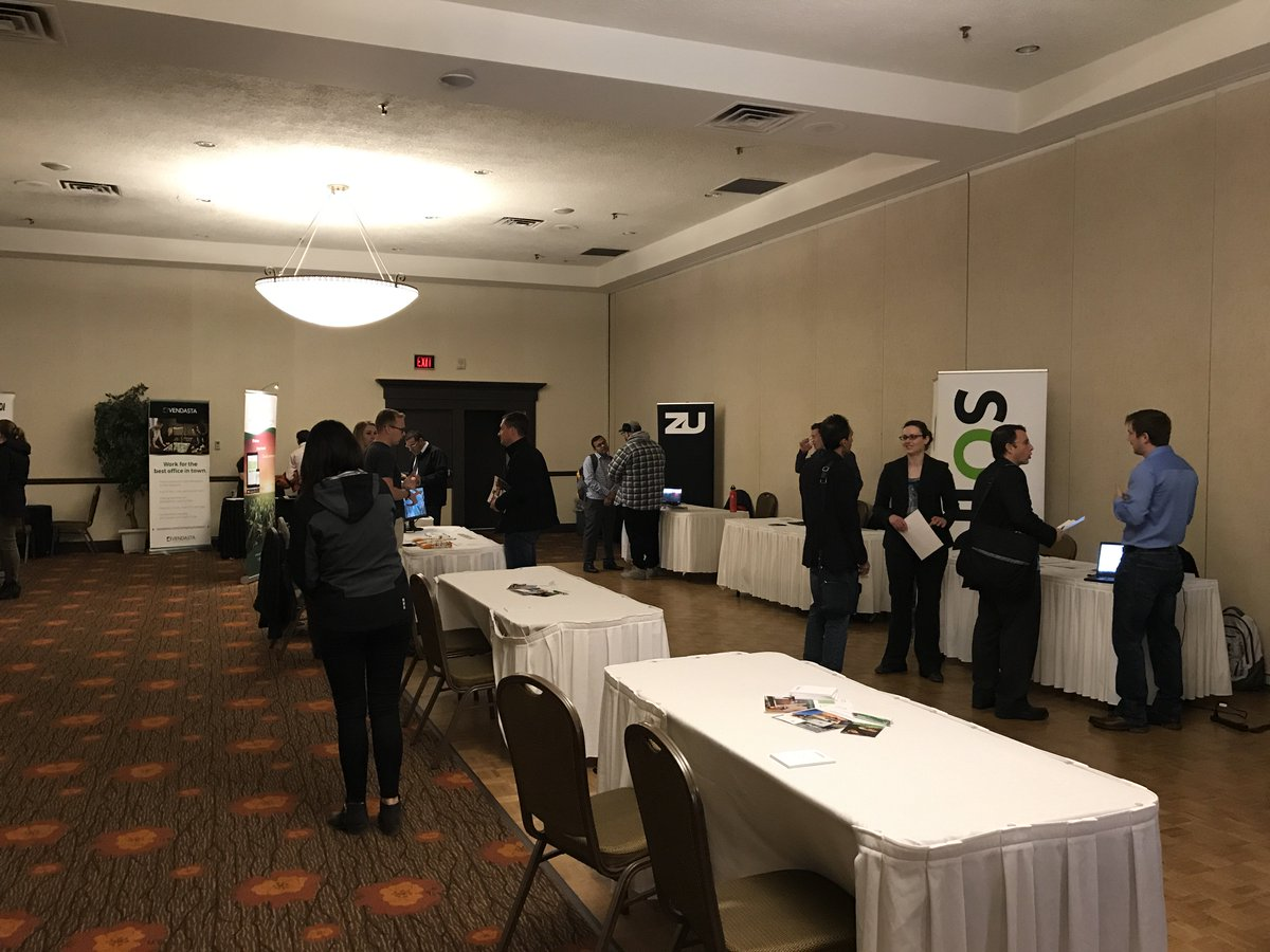 Come Visit Us At The SaskTech IT Job Fair 14 Saskatoon Tech Companies Here 200 People Learning About Careers In Digital Industrypictwitter