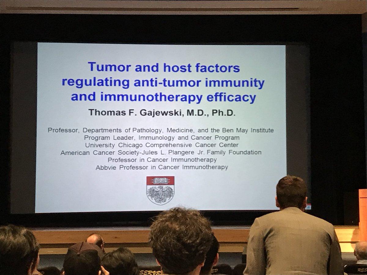 Thomas Gajewski from @UChicago is now presenting at #ImmunologyNCI2017. https://t.co/PHFVkViDAV