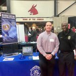 We're always looking for future officers! Sgts. Morrison & Allen attended career fairs at both @UCentralMO & @SEMissouriState this week.