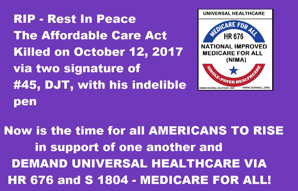 #medicareforall #medicare4all #singlepayer #singlepayernow #takeaknee HR676 and S1804  RALLY NOW IN SUPPORT OF HEALTHCARE FOR EACH OTHER!<br>http://pic.twitter.com/CrKFYnEMHA