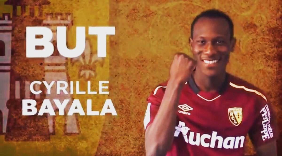 Cyrille Bayala has scored his the first goal in France! Bourg en Bresse - Lens 0-6! <br>http://pic.twitter.com/mZDU4vHhGl