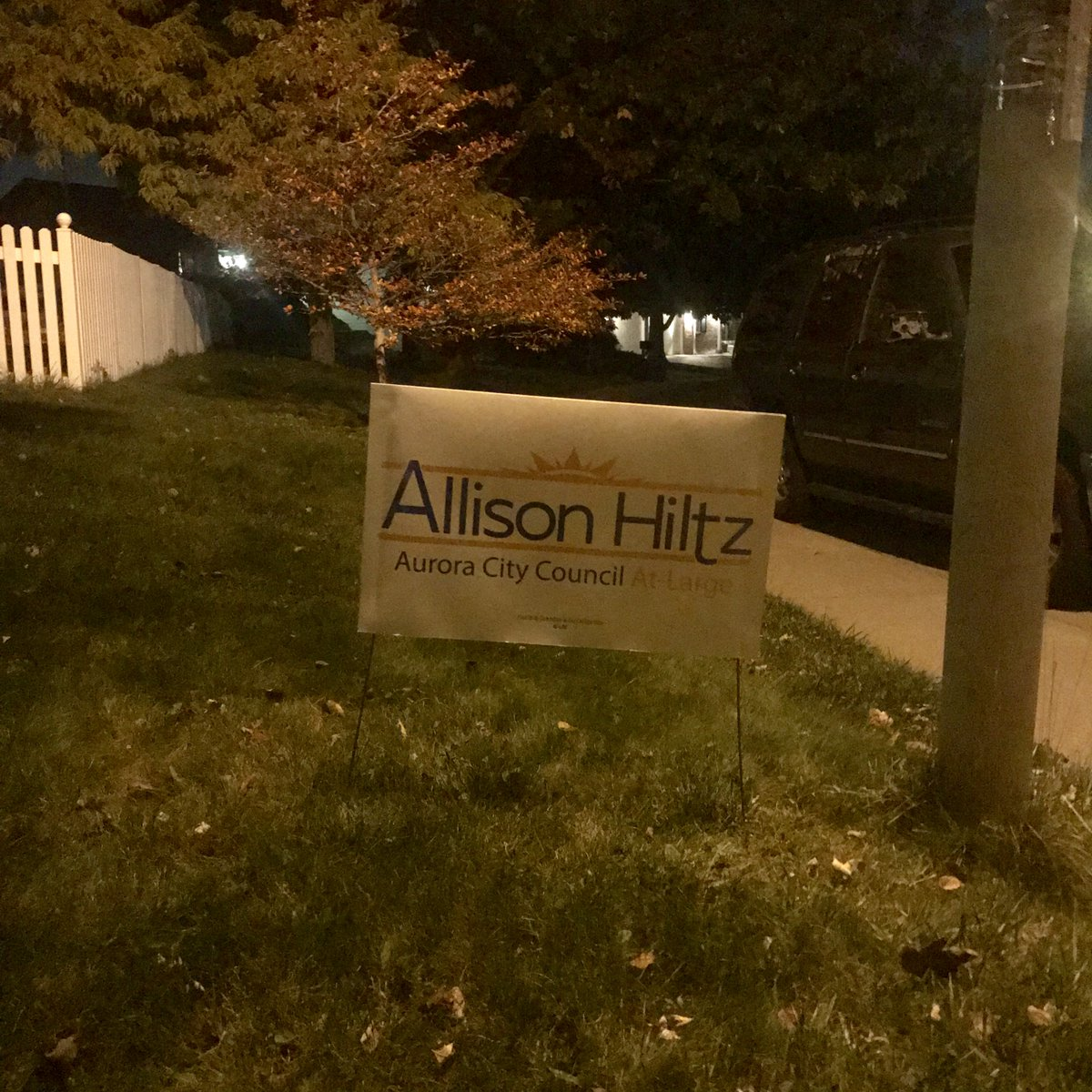 That awesome moment when you do Friday night sign drop offs and find your sign in the neighborhood, already. #grassroots <br>http://pic.twitter.com/qeAMkvTF97