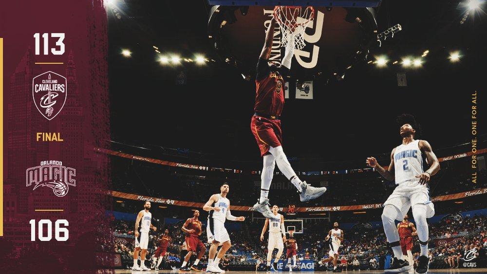 【季前賽精華】騎士 113-106 魔術│ 騎士季前賽打開勝利之門,LeBron James 開幕戰有望上陣