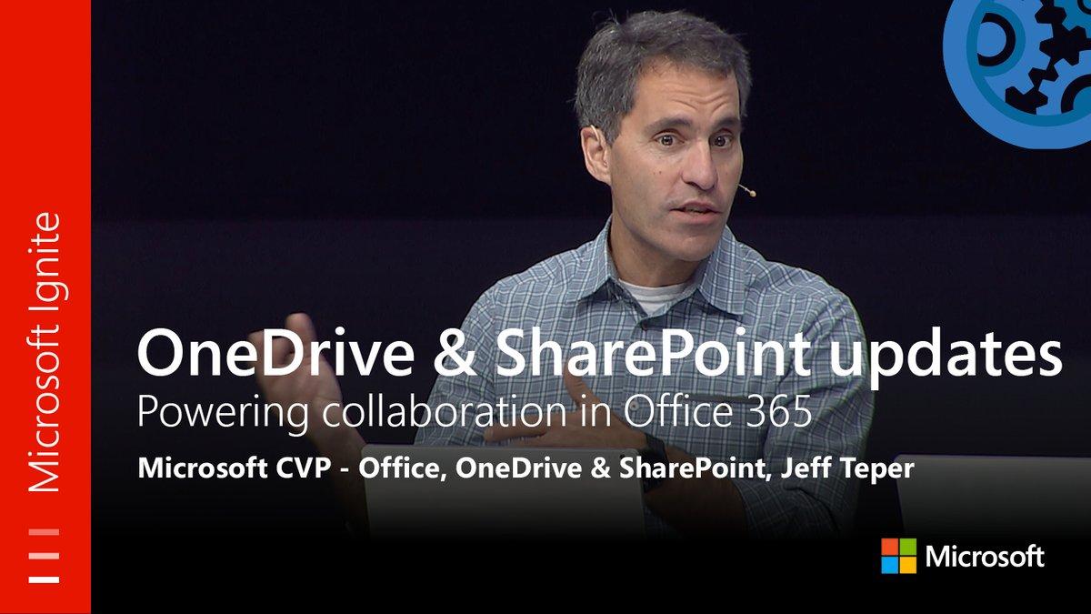 MT @MSFTMechanics: Via #MSIgnite: #OneDrive &amp; #SharePoint powering #Office365 collaboration  http:// youtu.be/hm8EBvcR_mI  &nbsp;  <br>http://pic.twitter.com/VtNji5TwSz