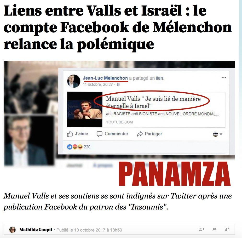 Mélenchon accusé de relayer une vidéo dévoilée par Panamza