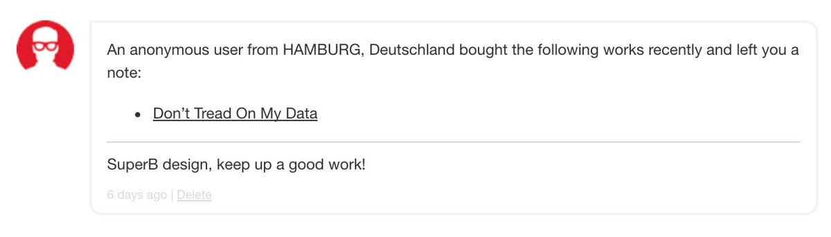 Ah I don&#39;t check my redbubble mail a lot - thanks Anonymous from #Hamburg! <br>http://pic.twitter.com/ZPHaleAvYY