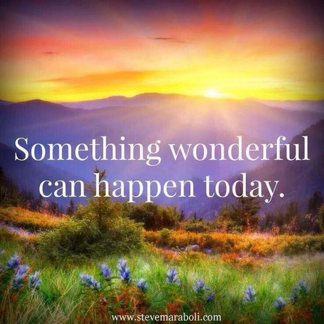 RT  @RichSimmondsZa Something wonderful can happen today  @CancerInspire @IzanneZA @spencerrayner #spdc #PositiveVibes #positivethinking<br>http://pic.twitter.com/YSnqH6JzO6