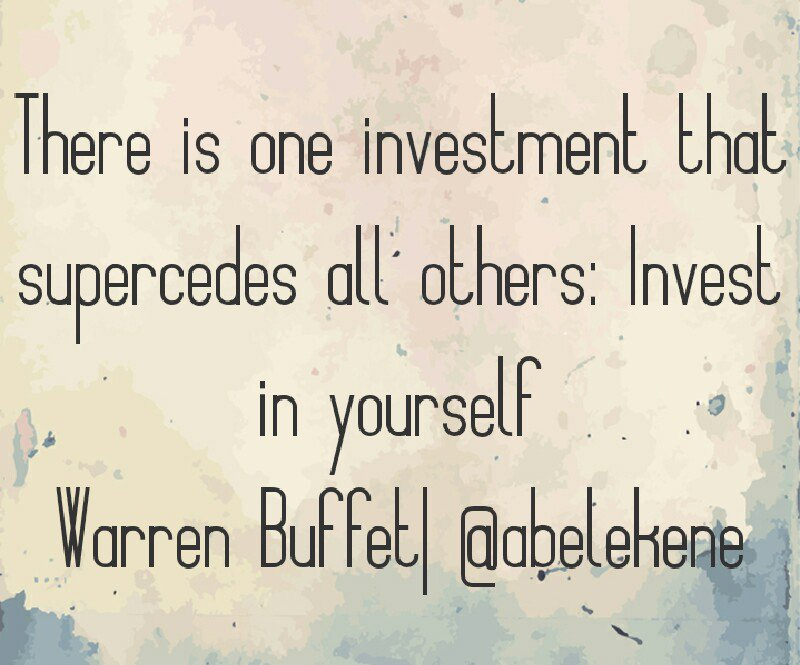 There is one investment that supercedes all others: invest in yourself #spdc #givelifeahand #Successtrain #startup<br>http://pic.twitter.com/Ucr9sRYqlP