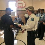Today Capt. Coonce was honored to present awards to members of @SLPS_INFO Security team. They do outstanding work keeping students safe!