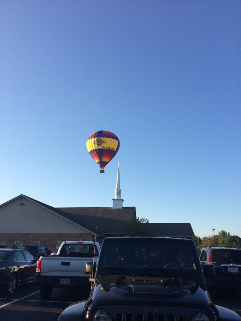 Hot air balloon sightings can happen anywhere! #Balloons <br>http://pic.twitter.com/WnnVk7vaBA