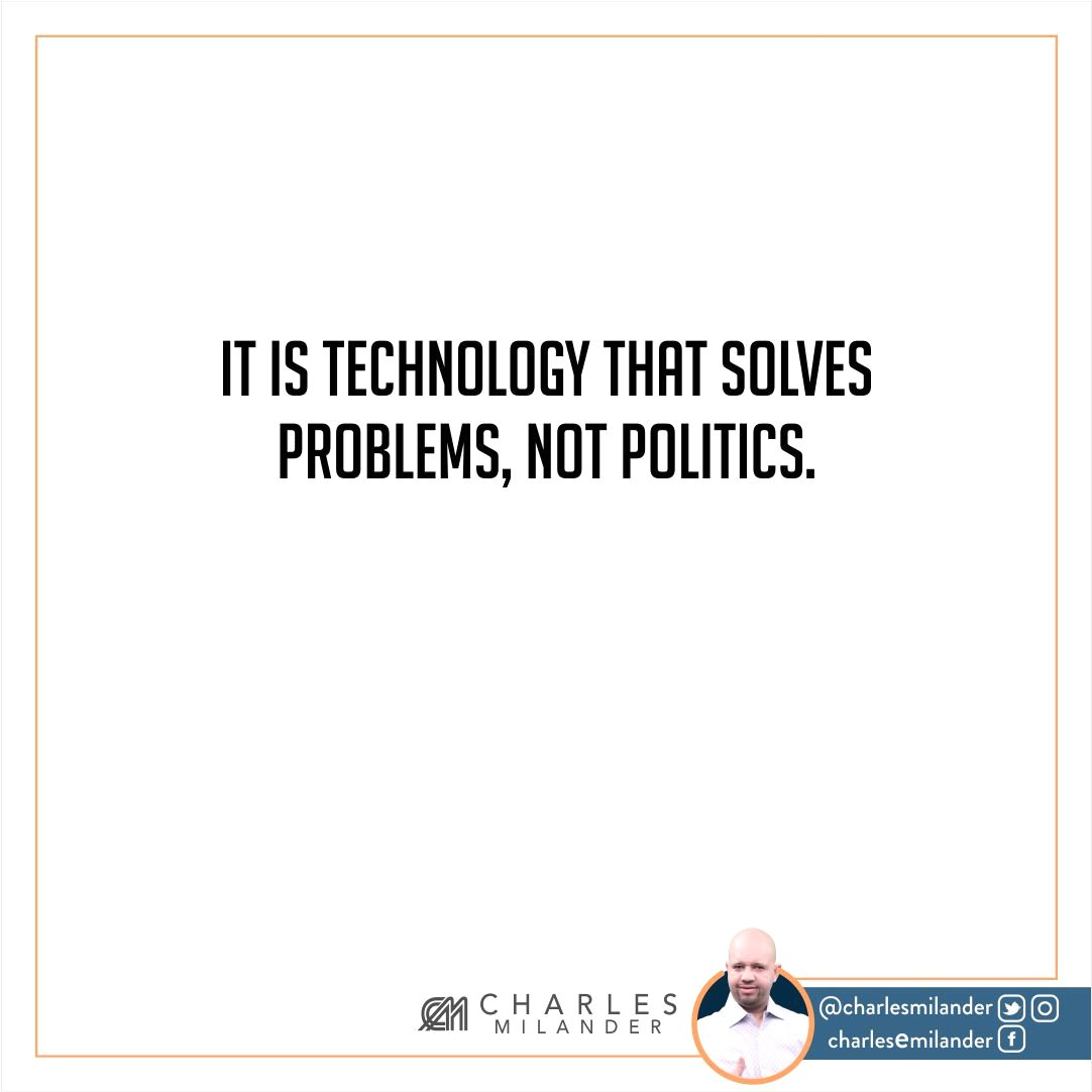 It is technology that solves problems, not politics. #working #founder #startup #money #magazine #moneymaker #startuplife #successful #passi<br>http://pic.twitter.com/9uP6RKoWmf