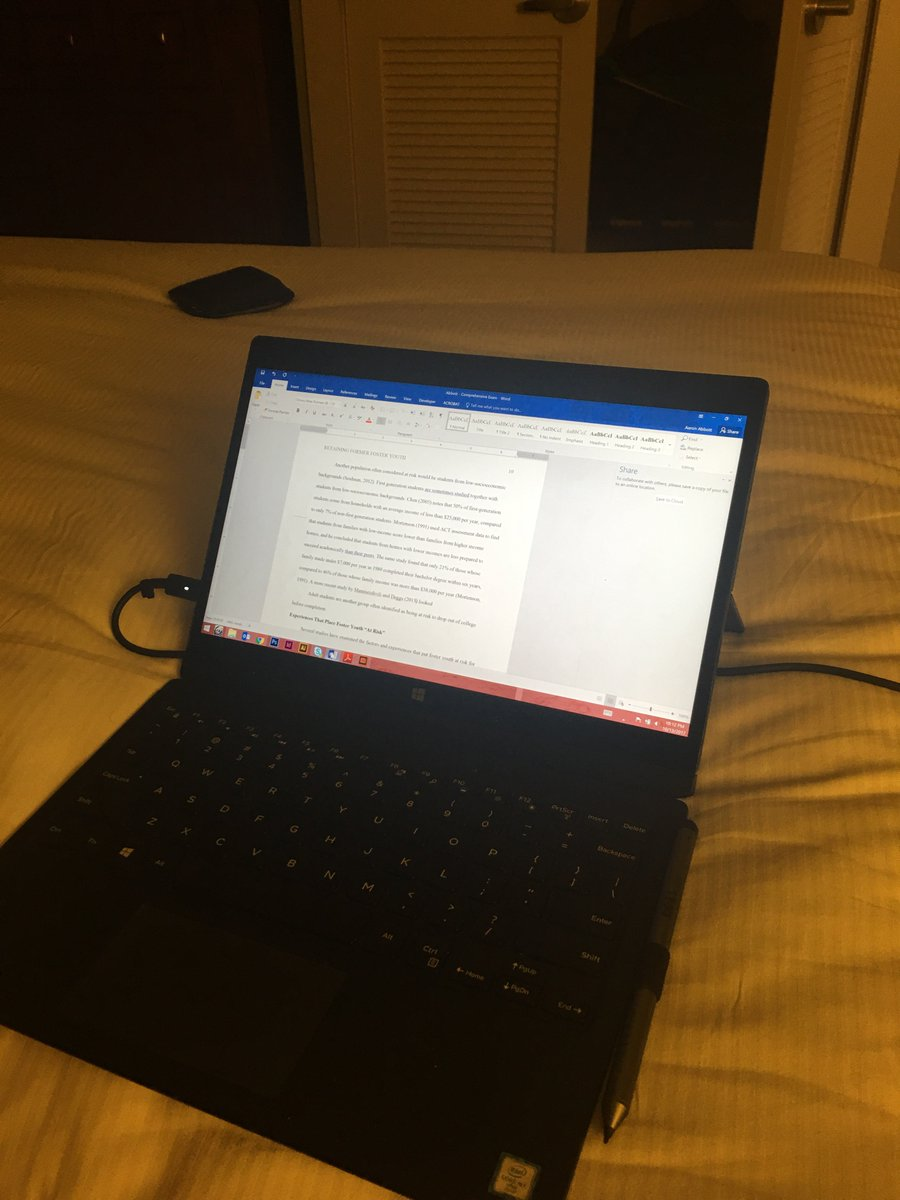 How I'm spending my last night (like every night before) at #NACADA17. #eddproblems #research #litreview <br>http://pic.twitter.com/JhhmGefh3M