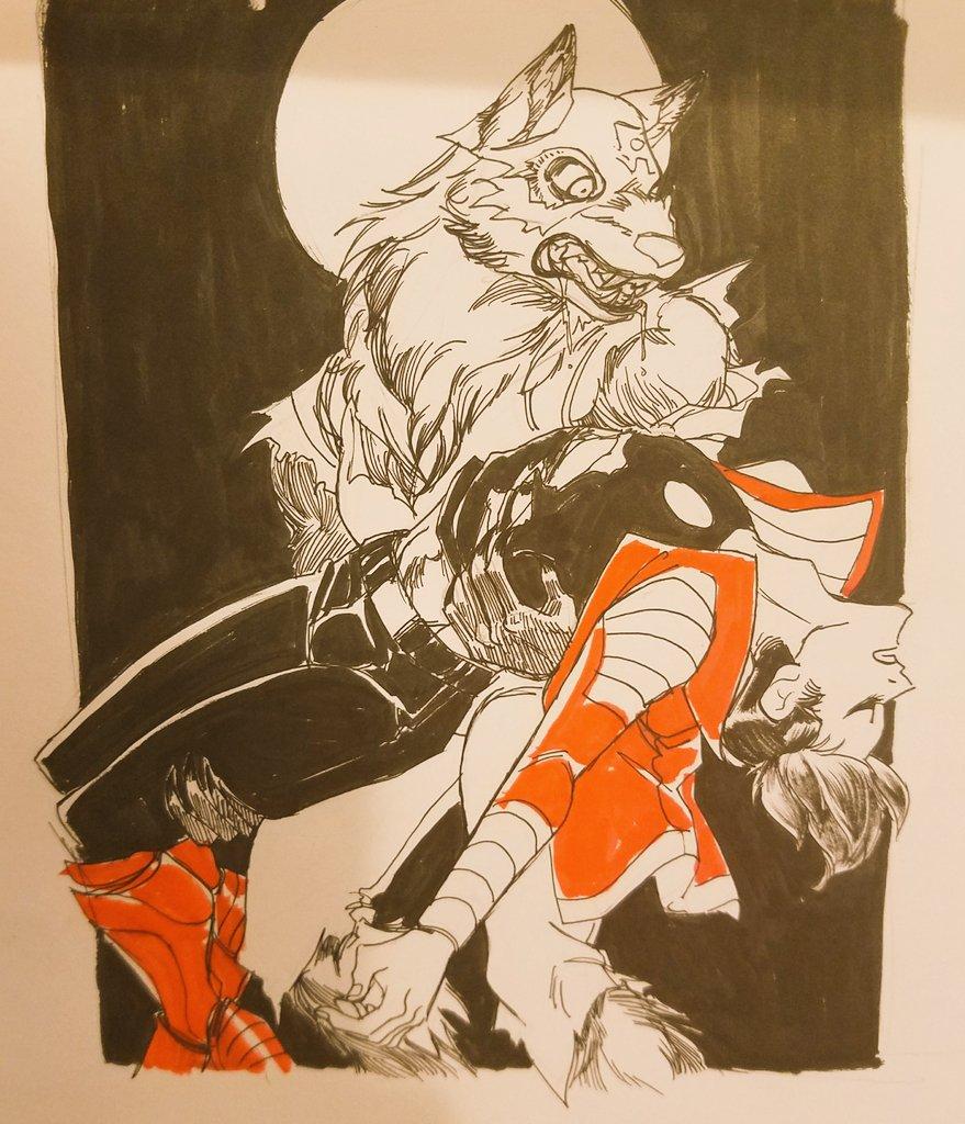 Oct 13: Werewolf!  DRAMA #inktober2017