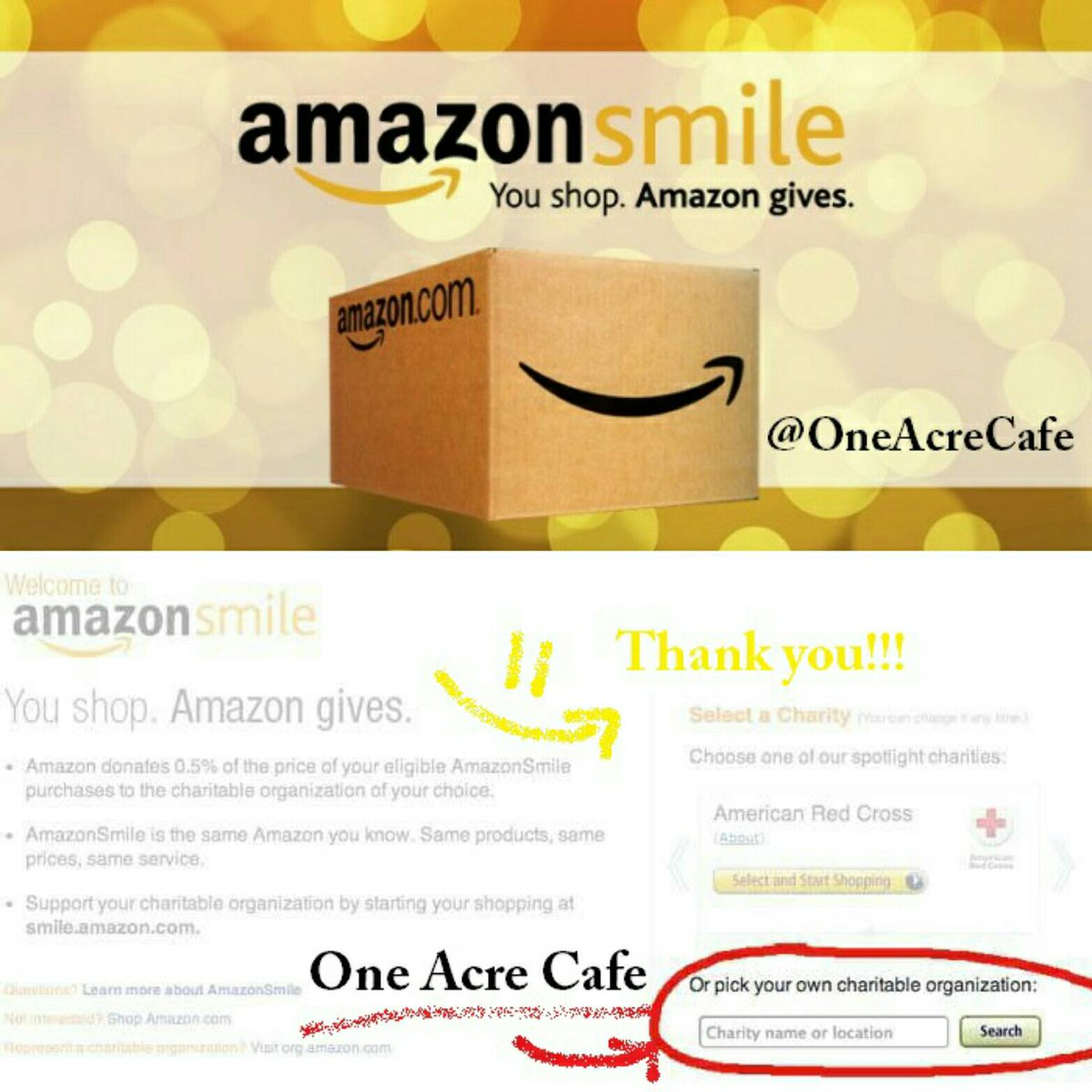 One Acre Cafe On Twitter Be The Reason Someone Smiles Today We Hope You Will Think Of Us The Next Time You Shop Online