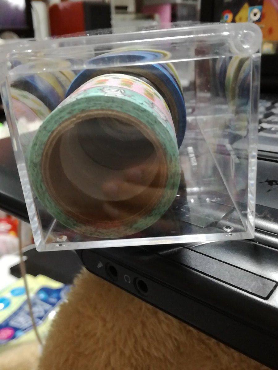 test ツイッターメディア - 突然ですがセリアのこのクリアケースオススメ。 普通に売ってるマスキングテープケースよりいっぱい入ります? 専用じゃないのでコロコロはしますけど…???? #セリア https://t.co/SCFlWvVWhK