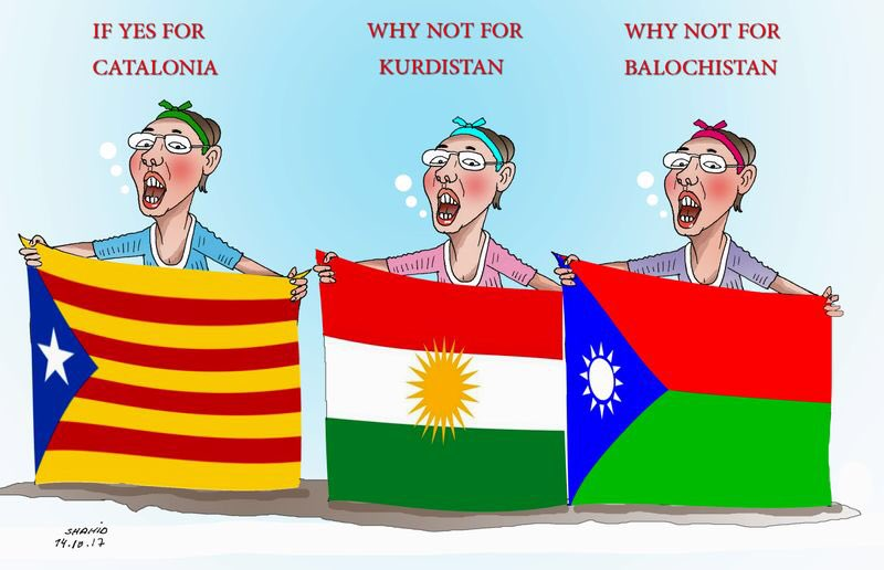 If yes for catalonia why not for Others #KurdistanReferandum #Balochistan #BalochGenocide #Freedom #WorldPeace<br>http://pic.twitter.com/1zQ5xmGp4L