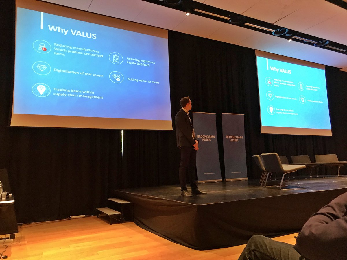 #Valus team finished presentation to 200 hundred blockchain enthusiasts at @BlockchainAdria  <br>http://pic.twitter.com/wWMbm3iq3r