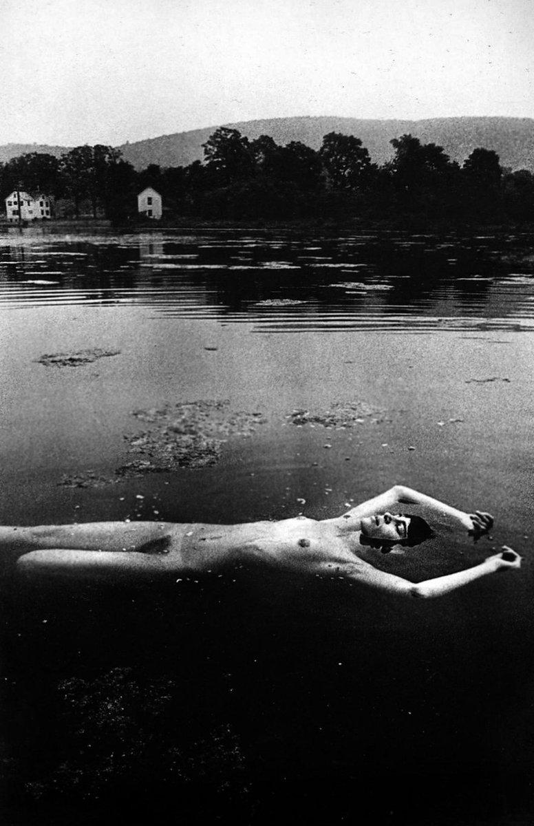 Miss Nude Universe - Sunbathing on a Float - Landscape