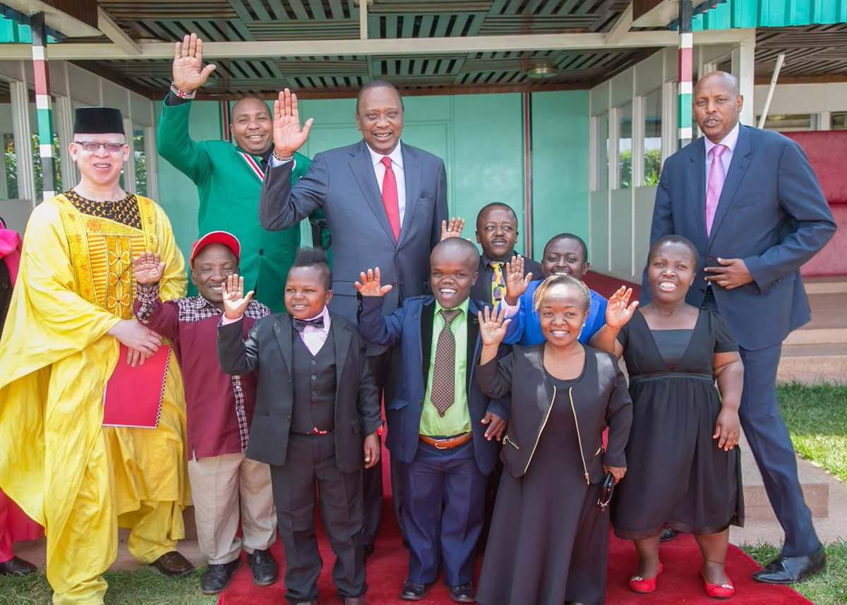 Image result for president uhuru with persons with disability