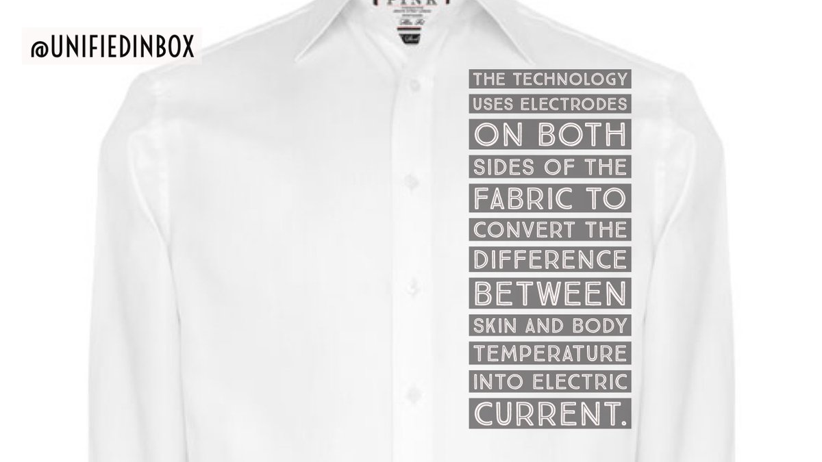 Your #smart shirt will power your #smartwatch! Turning body heat into electricity -  https://www. topbuzz.com/article/i64740 12677701108234 &nbsp; … .  #iot #ai HT @evankirstel<br>http://pic.twitter.com/UYZyH2mMyC